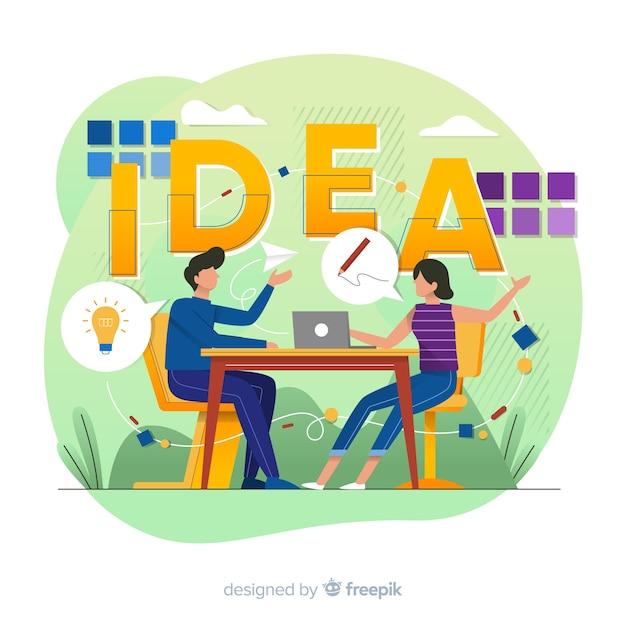 Graphic design idea concept Free Vector