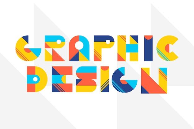 幾何学的なレタリングのグラフィックデザインレタリング Premiumベクター