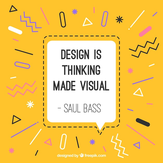 Graphic design quote in hand drawn style Free Vector