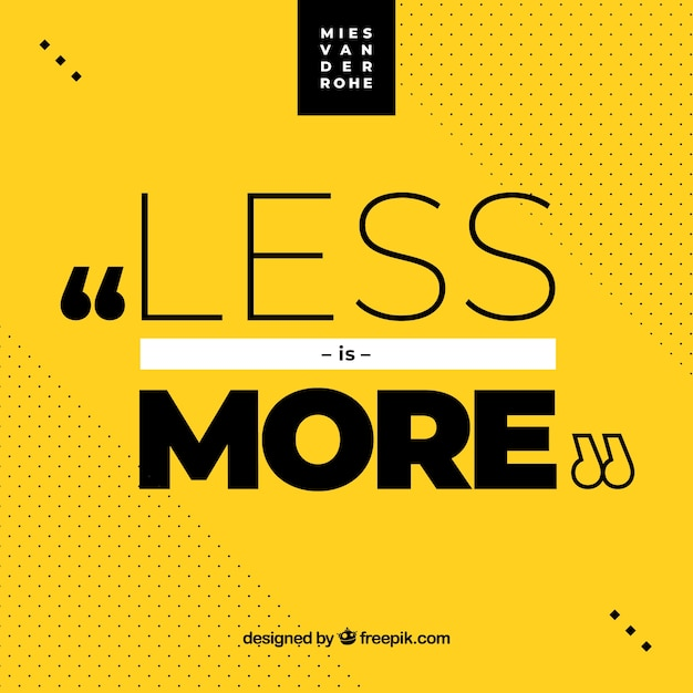 Graphic design quote in flat style Free Vector