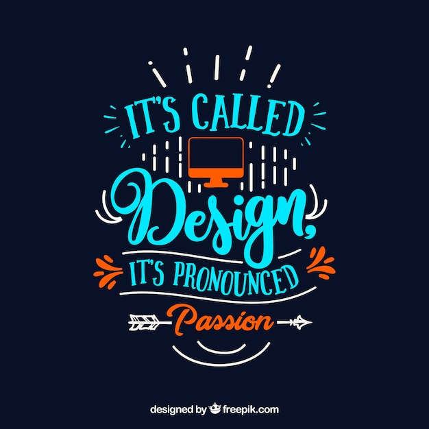 graphic design quote in hand drawn style vector free download