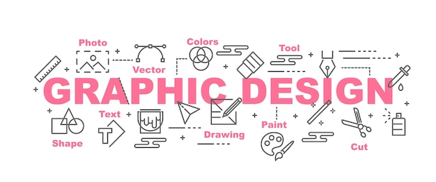 Graphic design vector banner Premium Vector