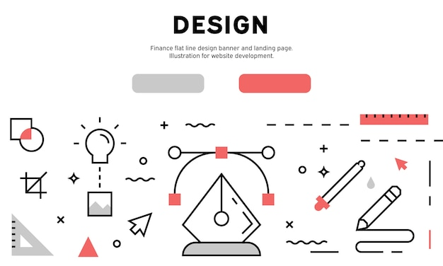 Graphic design web banner Premium Vector