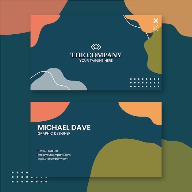 Graphic designer business card design Free Vector
