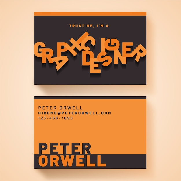 Graphic designer business card template Free Vector