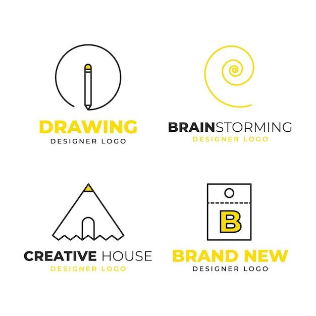 Graphic designer logo collection Premium Vector