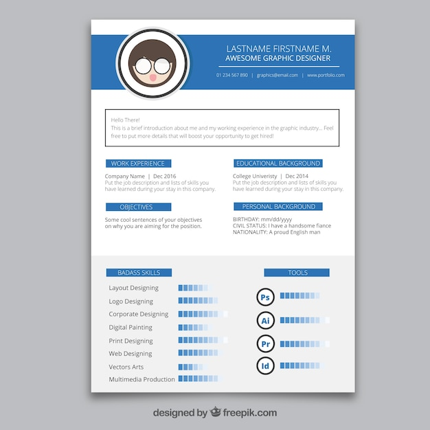 graphic designer resume template best templates free design docx psd download