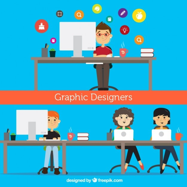 Graphic Designers Illustration Vector Free Download