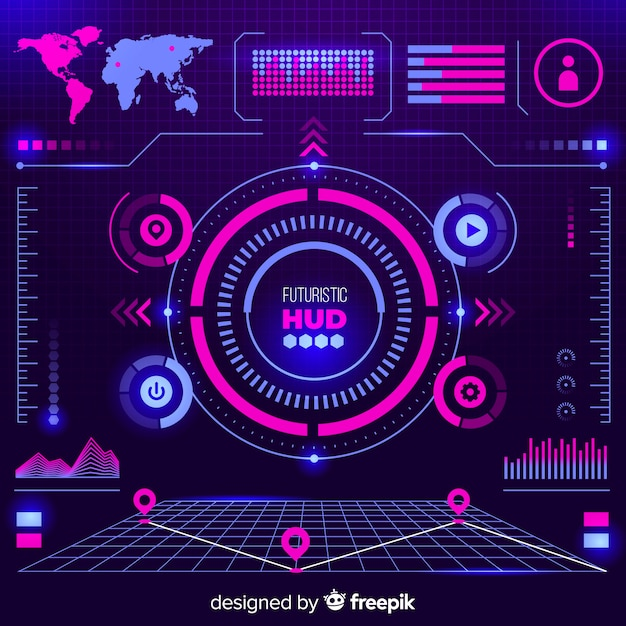 Graphic elements of spaceship Free Vector