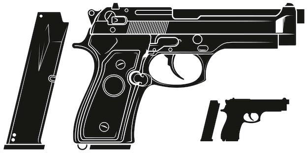 23+ Silhouette Pistol Vector