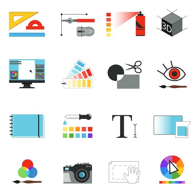 Graphic or web designers tools. Premium Vector