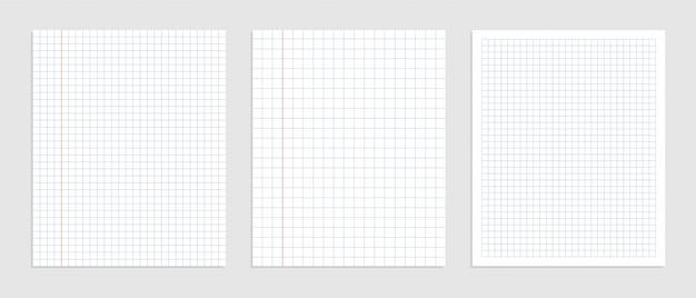 데이터 표현을위한 그래픽 빈 종이 시트 세트 무료 벡터