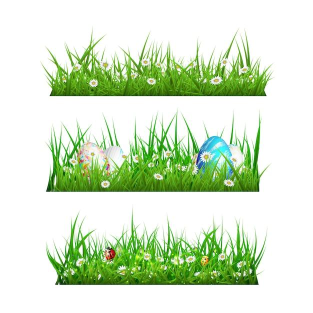 Grass designs collectio Free Vector