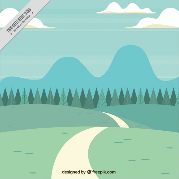 Grass field background with pathway Free Vector