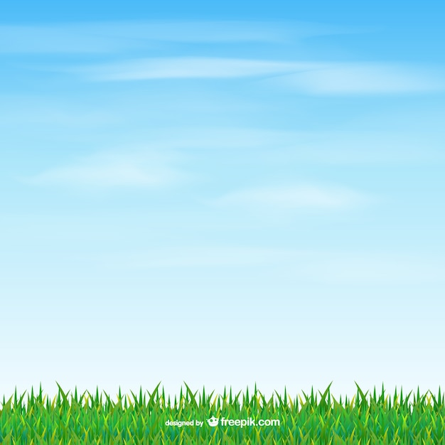 Grass and sky Free Vector