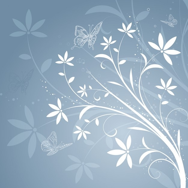 gray and white floral background vector free download