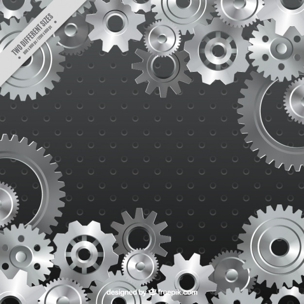 Gray background of gear Premium Vector