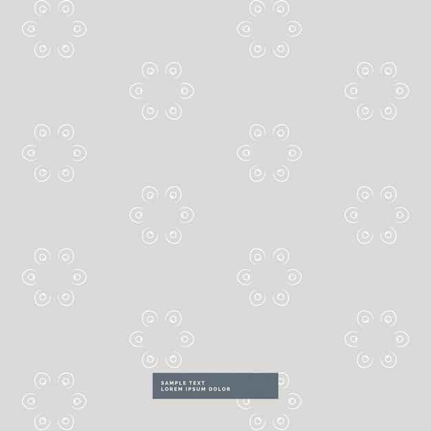 Download Vector - Gray floral pattern on a white background