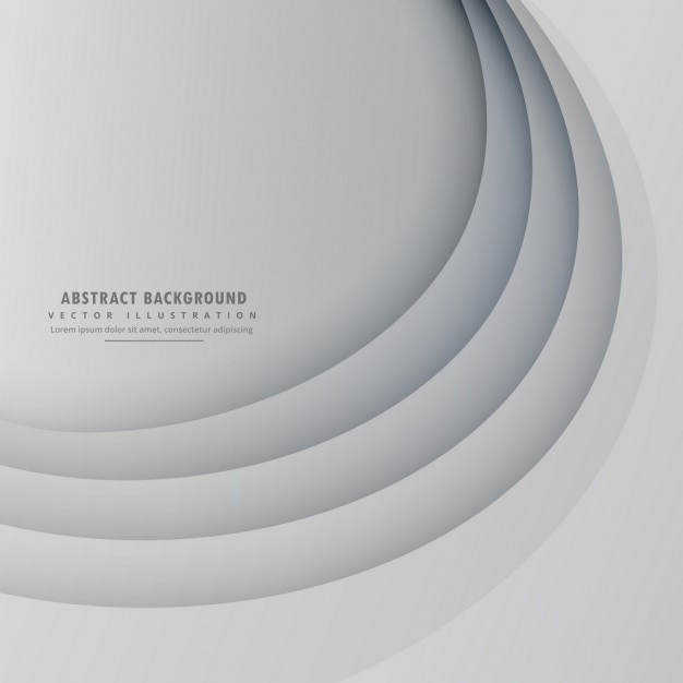 Gray background with circular lines Free Vector