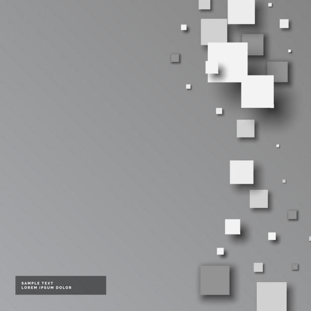 Серый фон с небольшими площадями в стиле 3d Бесплатные векторы