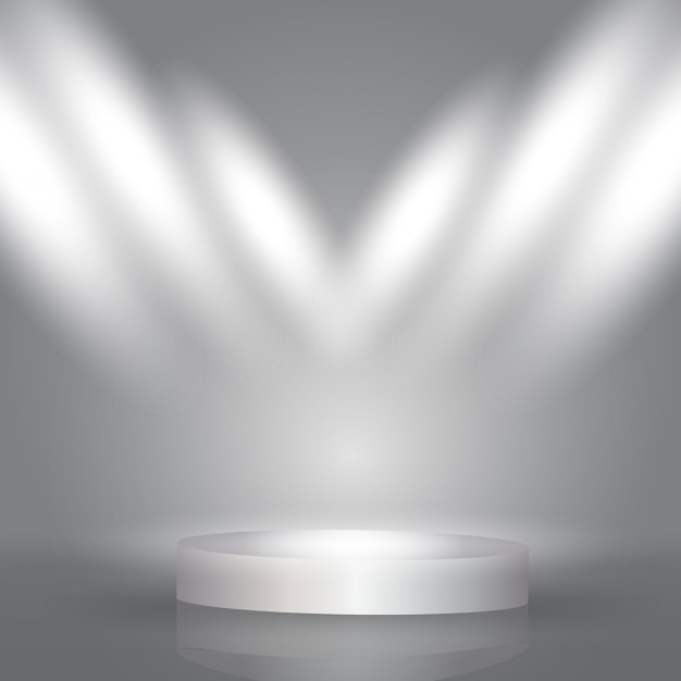 Gray Background With Spotlights Vector Free Download