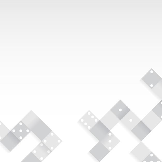 Gray blocks on blank white background vector Free Vector