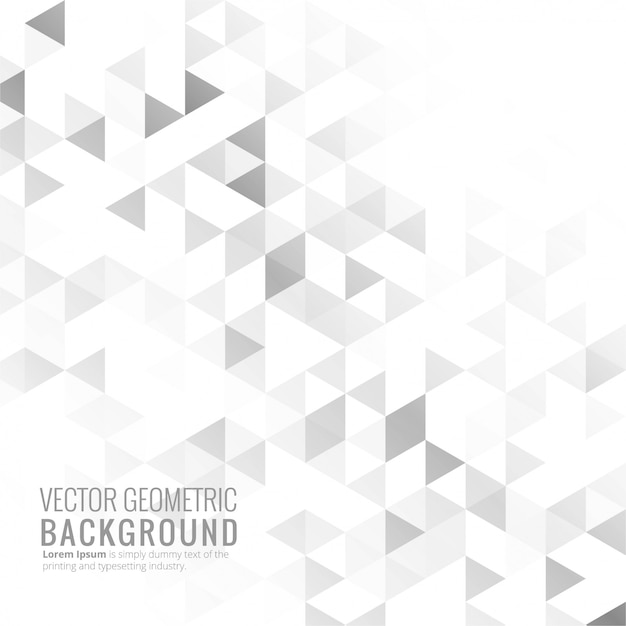 Gray bright geometric background vector Free Vector