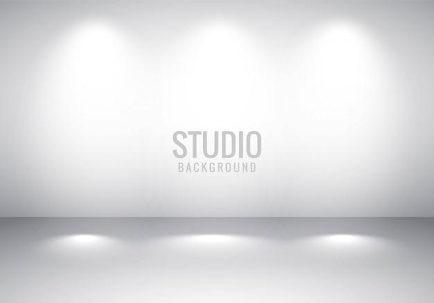 Gradiente di studio grigio stanza vuota Vettore gratuito