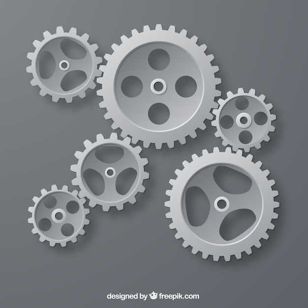 Gray gears Free Vector