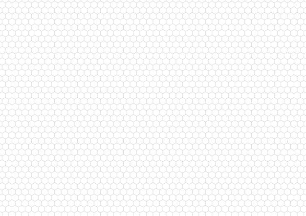 Gray hexagon grid , a4 size horizontal background Premium Vector