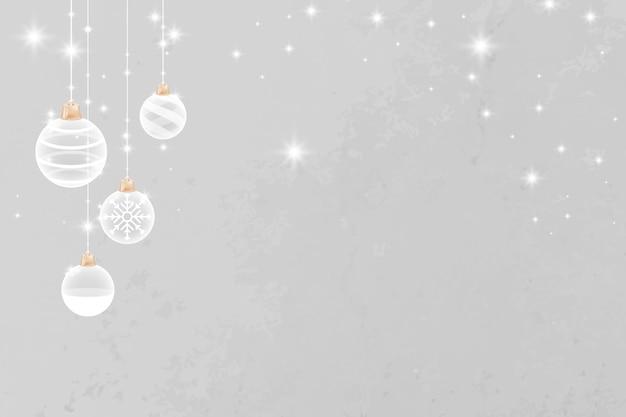 灰色のメリークリスマスキラキラ安物の宝石のお祭りの背景 無料ベクター