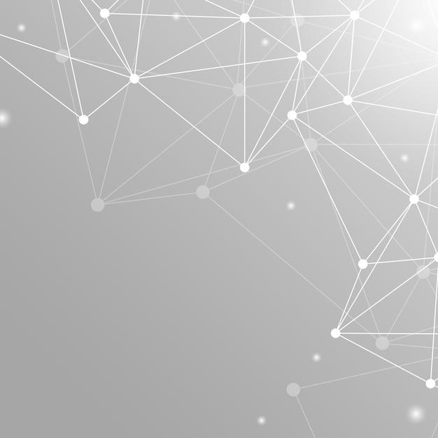 Gray neural network illustration Free Vector