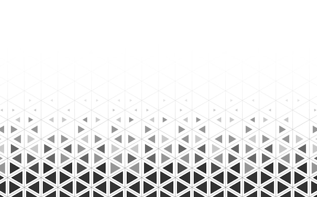 Gray triangle patterned on white background Free Vector
