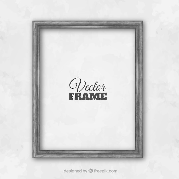 Gray wall frame Premium Vector