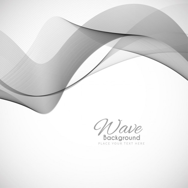 Gray wavy background Free Vector