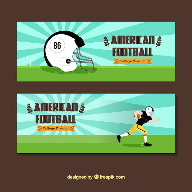 Great american football banners