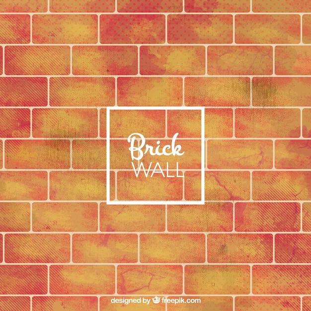 Grande sfondo del muro di mattoni Vettore gratuito