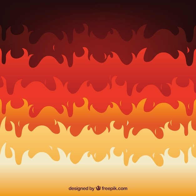 Great background of flat flames Free Vector