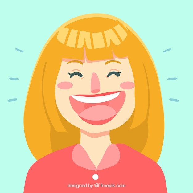 great background of blonde woman laughing vector free download