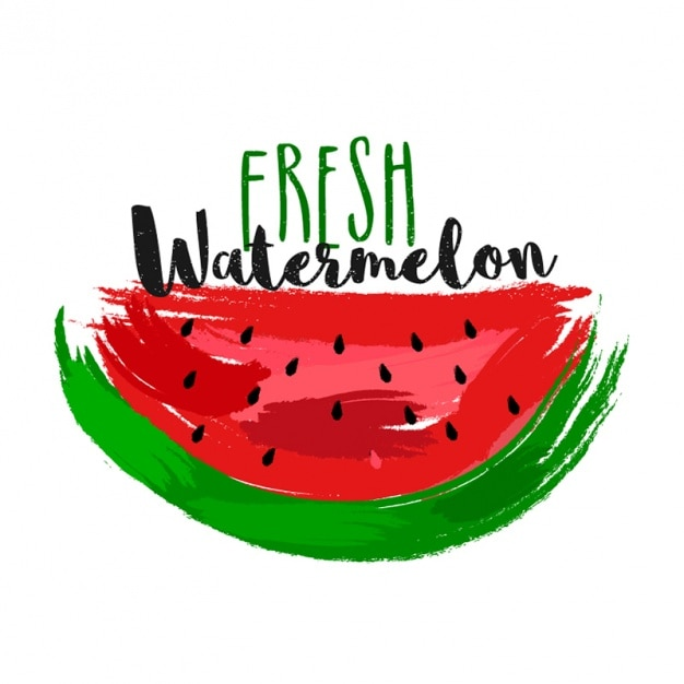 Great background of watermelon slice Premium Vector