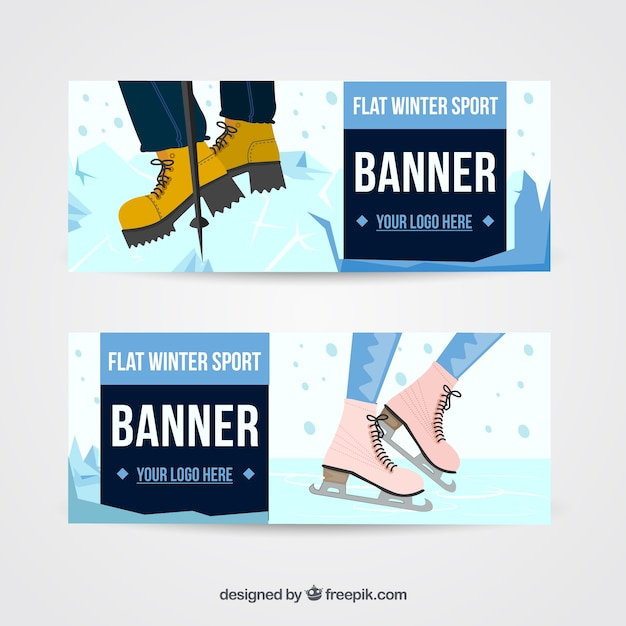 Great banners with fantastic winter\ sports