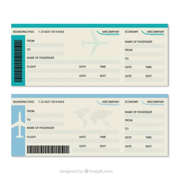 Great Boarding Pass Template Free Vector