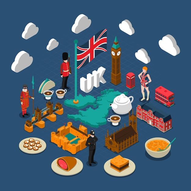 イギリスの概念構成 無料ベクター