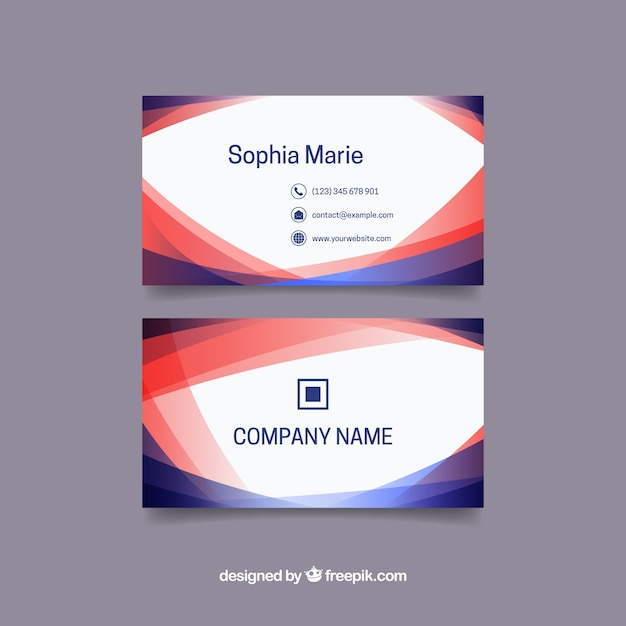 Great business card with abstract shapes Vector