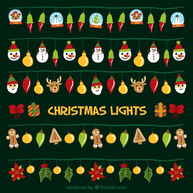 Great collection of decorative christmas\ lights