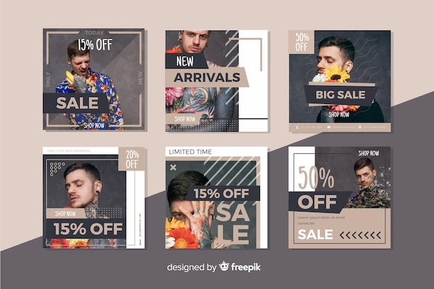 Great collection offer on instagram post Free Vector