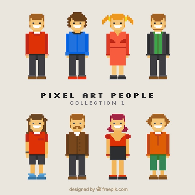 Great Collection Of Pixelated Characters