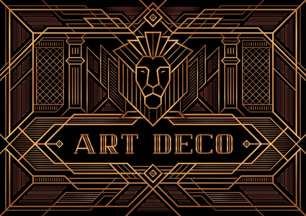The great gatsby deco style vector Premium Vector