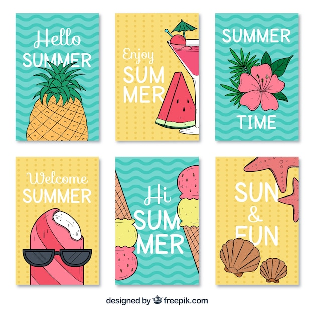 Great summer cards with variety of designs