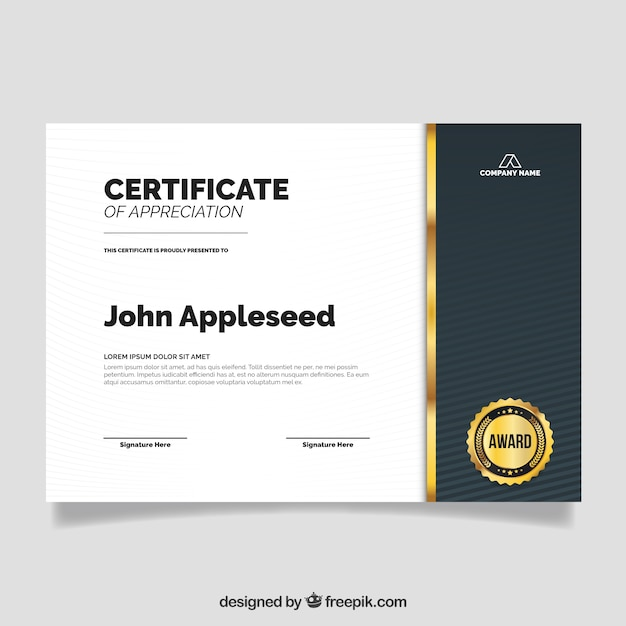 Great Template Of Graduation Certificate Vector | Free Download